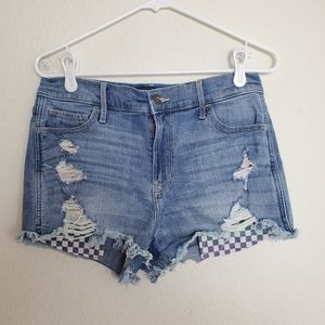 Hollister High Rise Distressed Cut Offs Shorts